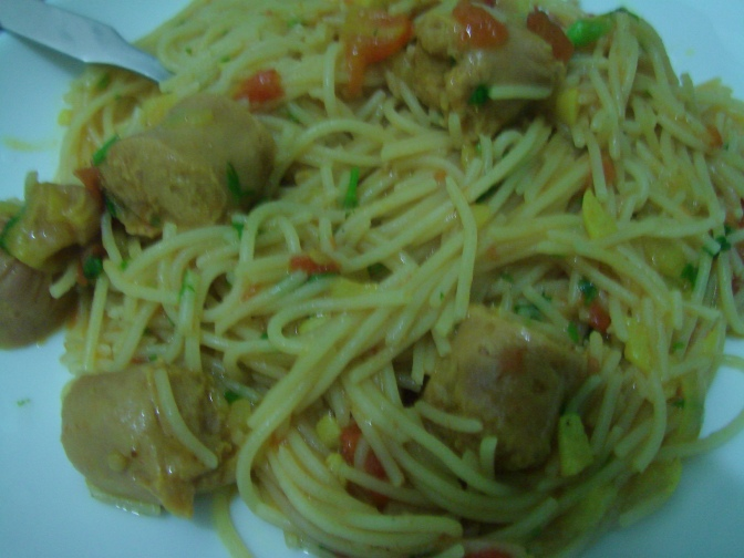 Spaghetti in Sausage Sauce